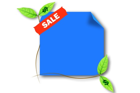 The sale blue board for promote something photo