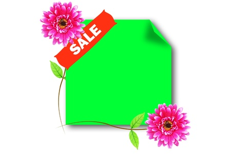 The sale green board for promote something photo