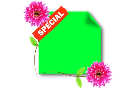 The special green board for promote something photo