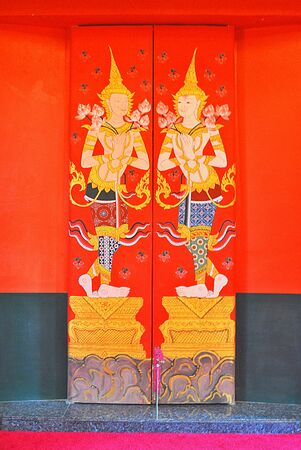 The thai design is in the beautiful temple photo