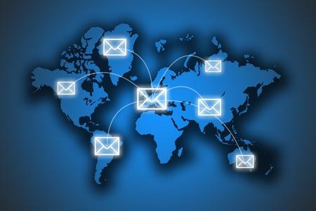Email: Der Brief ist auf der Karte