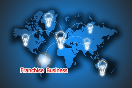 The energy button franchise business in the world Stock Photo - 9625763