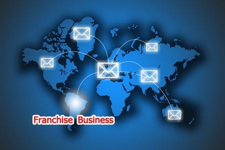 The service button franchise business in the world photo