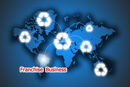 The recycle button franchise business in the world photo