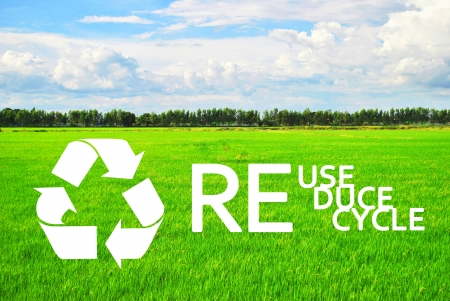 The ecology of recycle, reuse and reduce Stock Photo