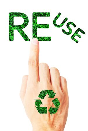 The ecology of recycle,reuse and reduce Stock Photo - 9849843