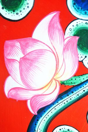 disign: Pink flower lotus  disign pattern is very beautiful