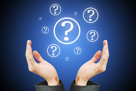 People hold a questions in the hand Stock Photo - 9986132