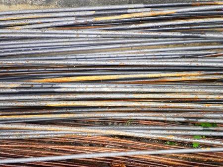 Series of different size metal steel on floor          photo