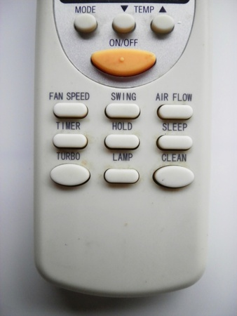 Close up of button remote control for air conditioner         Stock Photo - 10684314