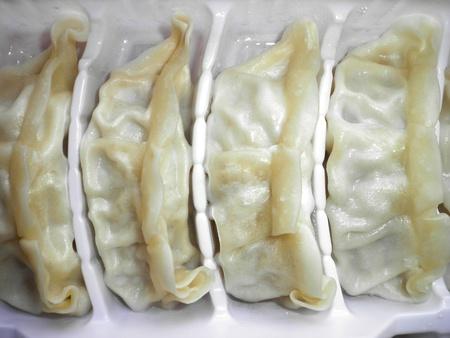 gyoza: japanese cusine pork meat food on the dish