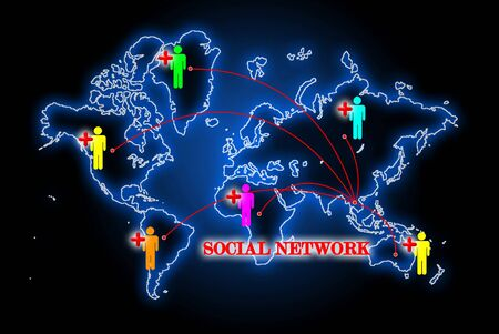 Social network search engines with people plus Stock Photo - 10874460