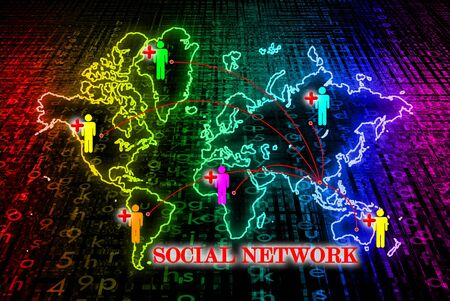 Social network search engines with people plus Stock Photo - 10874486