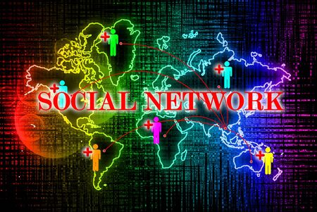 Social network search engines with people plus Stock Photo - 10874485