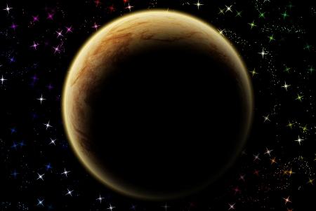 jupiter: Jupiter planet in solar system on star
