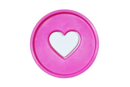 Heart in circle is on the white background Stock Photo - 12145406