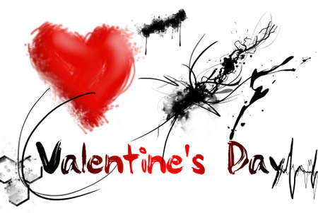 Valentines day word is on white background photo