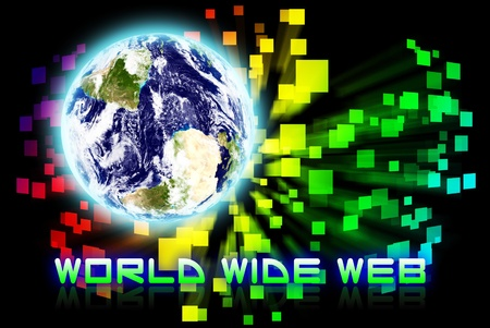 World wide web is on the background photo