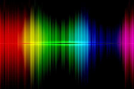 Spectrum abstract beautiful on the black background Stock Photo - 13243284