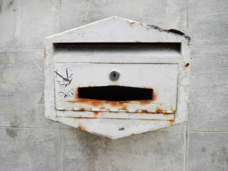Texture background surface thai old mail box         photo