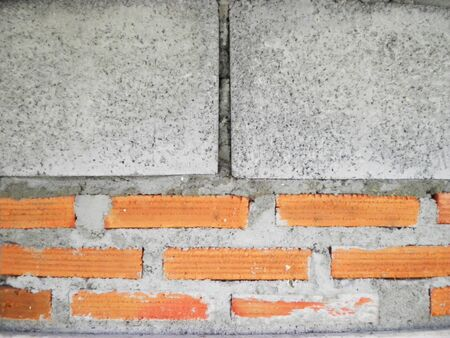 Texture background surface  breke wall brick brown       photo