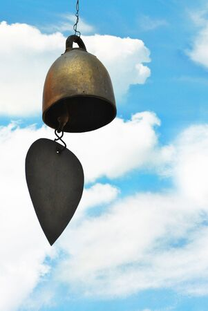 suspend: The bell hang on the beautiful sky Stock Photo