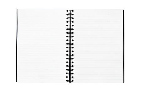 book binding: The notebook is on the white background Stock Photo
