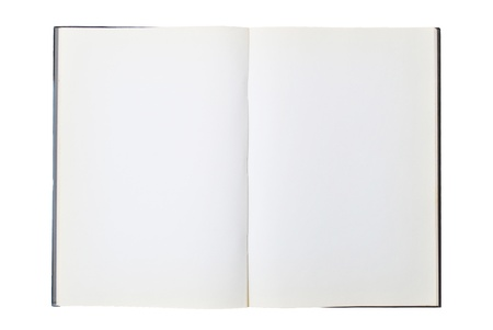 chapter: The open book is on the white background Stock Photo