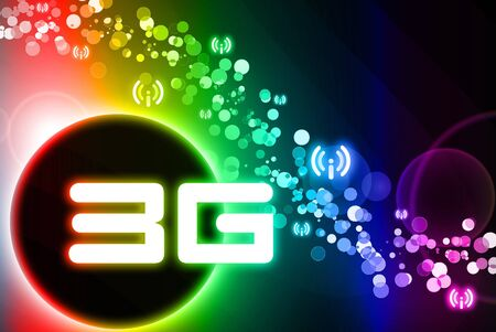 3g: 3G wifi is behind the spectrum design Stock Photo