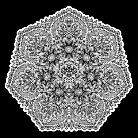 Mandala beautiful round pattern. Illustration