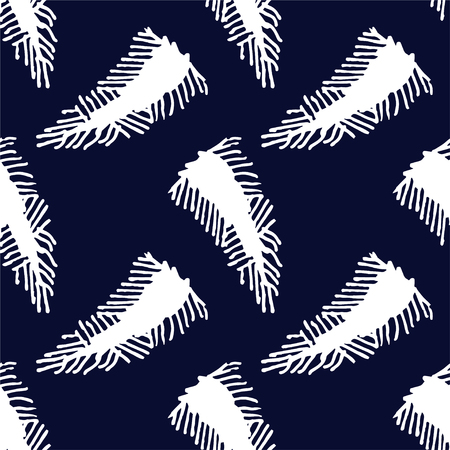 Abstract feather seamless pattern for cloth design Stock Photo