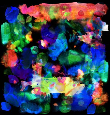 Abstract background with creative splashes and ink strokes effect. Stock Photo