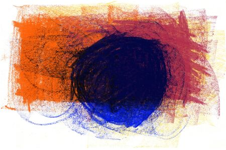 Unique abstract pastel dry texture painting with circle rythm and texture. 스톡 콘텐츠