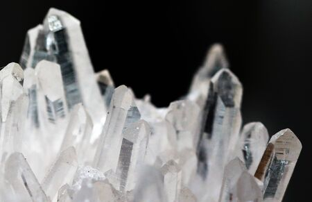 Geology of beauty. Natural transparent cosmic wild jewels through the light.