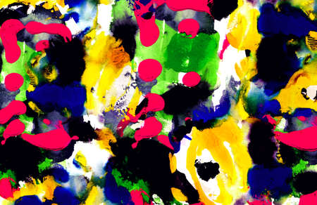 Abstract multicolor dynamic background with creative splashes and shabby brush strokes effect.