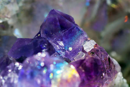 Beautiful crystal magic amethyst gem stone. Stockfoto