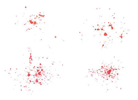 Spot and spray. Red color. Watercolor illustration on an isolated white background for your design.