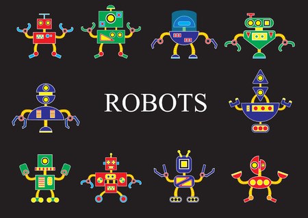 invader: Robots from outer space the invader or friend Illustration