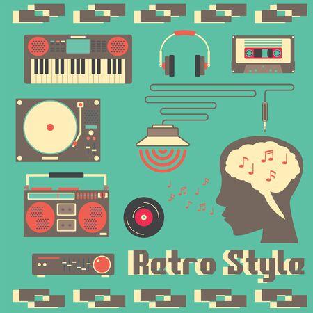 amoureux de la musique rétro et appareils de style rétro