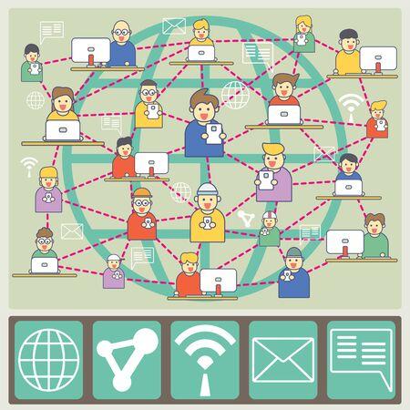via: People are in World Communication via broadband internet