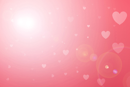 heart tone: Blurred background of Valentines day concept. Valentines Day Card. Pastel color tones.Pink white hearts wallpaper.