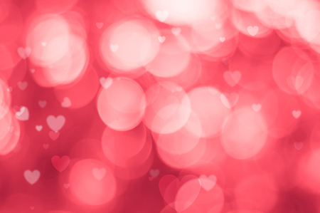 Blurred background of Valentines day concept. Valentines Day Card. Pastel color tones.Pink white hearts wallpaper.