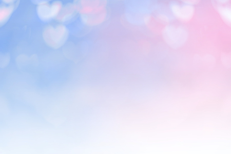 orenge: Blurred background of Valentines day concept. Valentines Day Card. Pastel color tones.multicolored white hearts wallpaper.