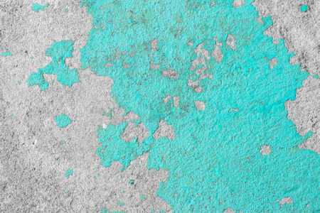 Blue old cracked concrete vintage pattern antique as rough or surface grunge wall background.