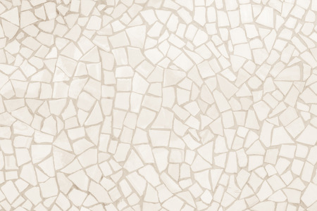 Broken tiles mosaic seamless pattern. Cream and Brown the tile wall high resolution real photo or brick seamless and texture interior background.