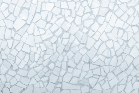 Broken tiles mosaic seamless pattern. White and Grey the tile wall high resolution real photo or brick seamless and texture interior background.