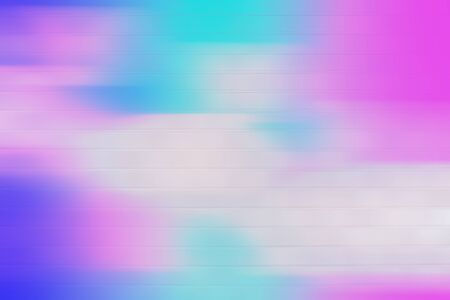 Colorful geometric blurred gradient mesh neon abstract blurred nature background. digitally generated image of blue light soft colored and stripes moving fast over texture background with copy space. Imagens