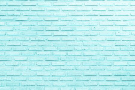 Abstract Pastel Blue and White brick wall texture background pre wedding. Brickwork or stonework lovely flooring interior rock pattern clean concrete grid uneven bricks, design teen style.