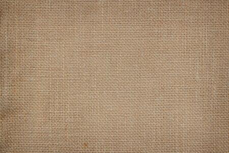 Brown Hanfseil Textur Hintergrund. Sackleinen oder Decke wale Leinentapete. Rustikale Sackleinenstruktur in Natur. Haircloth Vintage Leinenleinenweben, alter beige Teppichhintergrund.