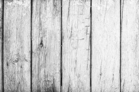 Old grunge wood plank texture background. Vintage white wooden board wall have antique cracking style background objects for furniture design. Painted weathered peeling table woodworking hardwoods. Imagens